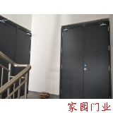Shaoxing Keqiao installation of flat steel fire doors